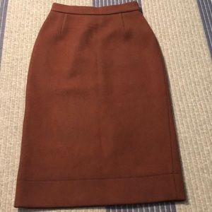 Prada brown wool pencil skirt!